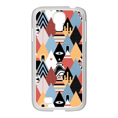 Abstract Diamond Pattern Samsung Galaxy S4 I9500/ I9505 Case (white) by allthingseveryday