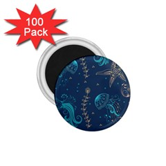 Arabesque Vintage Graphic Nature 1 75  Magnets (100 Pack)  by allthingseveryday