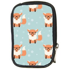 Cute Fox Pattern Compact Camera Cases by allthingseveryday