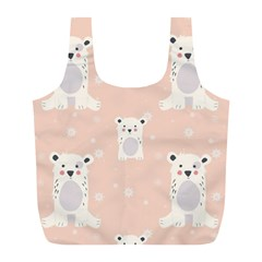 Cute Polar Bear Pattern Full Print Recycle Bags (l)  by allthingseveryday