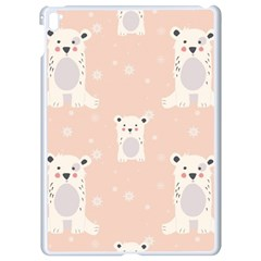 Cute Polar Bear Pattern Apple Ipad Pro 9 7   White Seamless Case by allthingseveryday