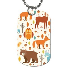 Woodland Friends Pattern Dog Tag (two Sides) by allthingseveryday