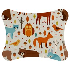 Woodland Friends Pattern Jigsaw Puzzle Photo Stand (bow) by allthingseveryday
