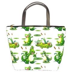 Crocodiles In The Pond Bucket Bags by allthingseveryday