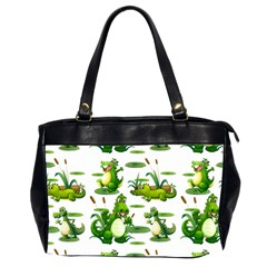 Crocodiles In The Pond Office Handbags (2 Sides)  by allthingseveryday