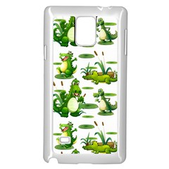 Crocodiles In The Pond Samsung Galaxy Note 4 Case (white) by allthingseveryday