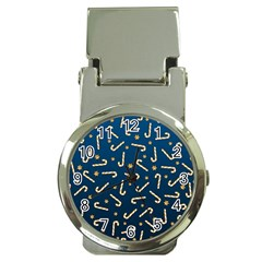 Golden Candycane Blue Money Clip Watches