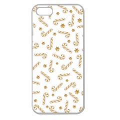 Golden Candycane Light Apple Seamless Iphone 5 Case (clear) by jumpercat