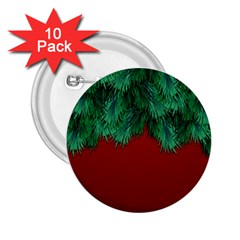 Xmas Tree 2 25  Buttons (10 Pack)