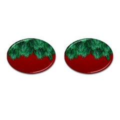 Xmas Tree Cufflinks (oval) by jumpercat