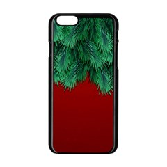 Xmas Tree Apple Iphone 6/6s Black Enamel Case by jumpercat