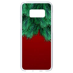 Xmas Tree Samsung Galaxy S8 White Seamless Case by jumpercat