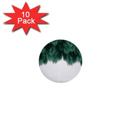 Snow And Tree 1  Mini Buttons (10 Pack)  by jumpercat