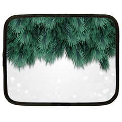 Snow And Tree Netbook Case (xl)  by jumpercat