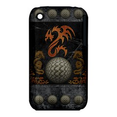 Awesome Tribal Dragon Made Of Metal Iphone 3s/3gs by FantasyWorld7