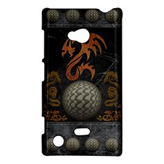 Awesome Tribal Dragon Made Of Metal Nokia Lumia 720 by FantasyWorld7