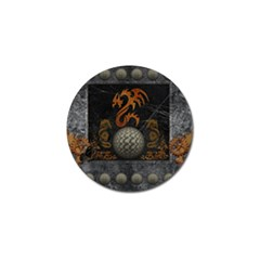 Awesome Tribal Dragon Made Of Metal Golf Ball Marker by FantasyWorld7