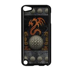 Awesome Tribal Dragon Made Of Metal Apple Ipod Touch 5 Case (black) by FantasyWorld7