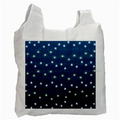 Christmas Light Blue Recycle Bag (one Side) by jumpercat