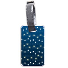 Christmas Light Blue Luggage Tags (one Side)  by jumpercat