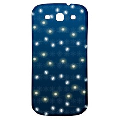 Christmas Light Blue Samsung Galaxy S3 S Iii Classic Hardshell Back Case by jumpercat