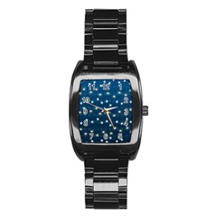 Christmas Light Blue Stainless Steel Barrel Watch by jumpercat