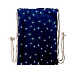 Christmas Light Blue Drawstring Bag (small) by jumpercat