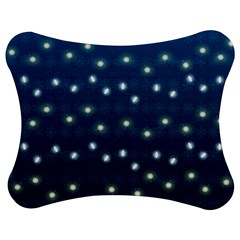 Christmas Light Blue Jigsaw Puzzle Photo Stand (bow) by jumpercat