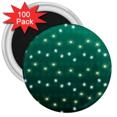 Christmas Light Green 3  Magnets (100 Pack) by jumpercat