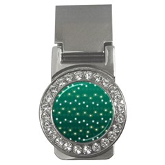Christmas Light Green Money Clips (cz)  by jumpercat
