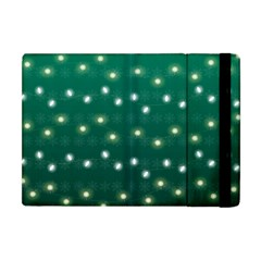 Christmas Light Green Apple Ipad Mini Flip Case by jumpercat