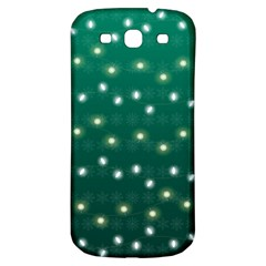 Christmas Light Green Samsung Galaxy S3 S Iii Classic Hardshell Back Case by jumpercat