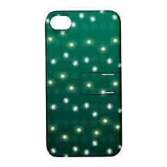 Christmas Light Green Apple Iphone 4/4s Hardshell Case With Stand