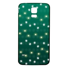 Christmas Light Green Samsung Galaxy S5 Back Case (white)