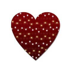 Christmas Light Red Heart Magnet by jumpercat