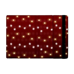 Christmas Light Red Apple Ipad Mini Flip Case by jumpercat