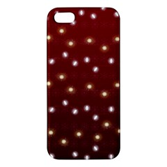 Christmas Light Red Apple Iphone 5 Premium Hardshell Case by jumpercat