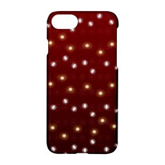 Christmas Light Red Apple Iphone 7 Hardshell Case