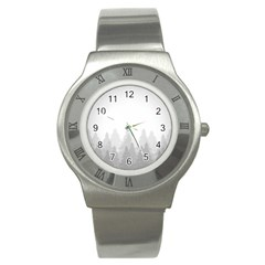 Winter Land Light Stainless Steel Watch by jumpercat
