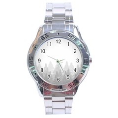 Winter Land Light Stainless Steel Analogue Watch by jumpercat