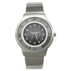 Winter Land Dark Stainless Steel Watch by jumpercat
