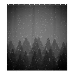 Winter Land Dark Shower Curtain 66  X 72  (large)  by jumpercat