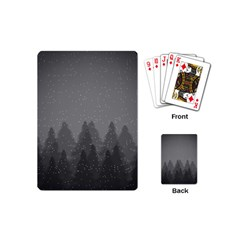 Winter Land Dark Playing Cards (mini)  by jumpercat