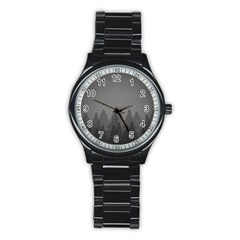 Winter Land Dark Stainless Steel Round Watch by jumpercat