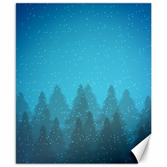 Winter Land Blue Canvas 8  X 10  by jumpercat
