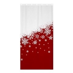 Xmas Snow 01 Shower Curtain 36  X 72  (stall)  by jumpercat