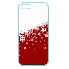 Xmas Snow 01 Apple Seamless Iphone 5 Case (color) by jumpercat