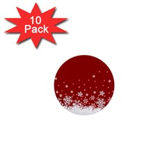 Xmas Snow 02 1  Mini Buttons (10 Pack)  by jumpercat