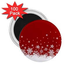Xmas Snow 02 2 25  Magnets (100 Pack)  by jumpercat