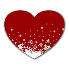 Xmas Snow 02 Heart Mousepads by jumpercat